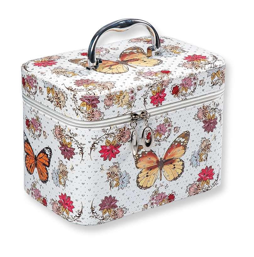 Top Choice Kosmetický kufřík Motýli S 19x10,5x11,5cm 97584