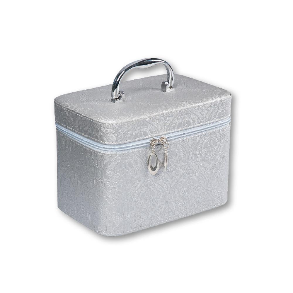 88819ed2a Top Choice Kosmetický kufřík FLORAL Silver S 19x10,5x11,5cm 97201