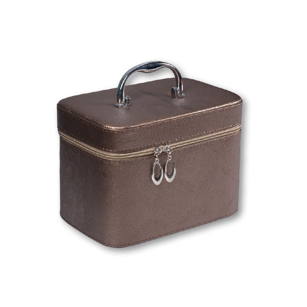 e1856f0ae Top Choice Kosmetický kufřík FLORAL Brown L23x15,5x17,5cm 97334