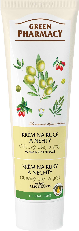 Green Pharmacy krém na ruce a nehty - Olivový olej a goji 100ml